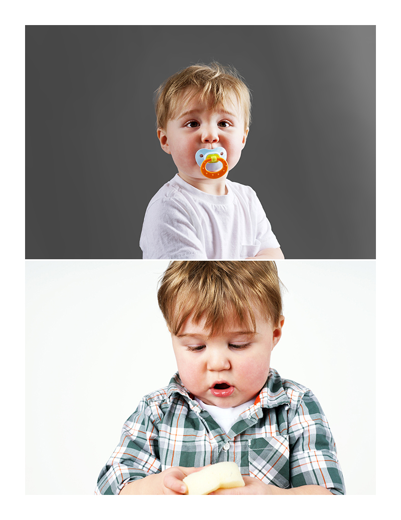 A chupeta deixa a boca da criança flácida e o lábio inferior virado