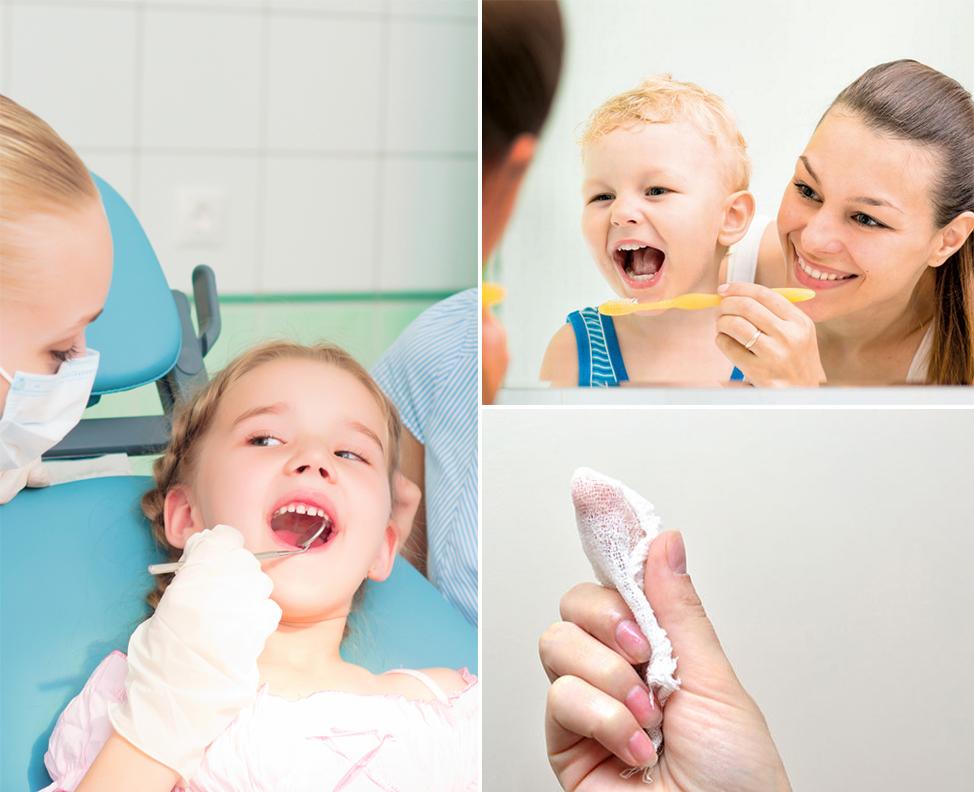 É preciso limpar a boca do bebê desde a primeira mamada
